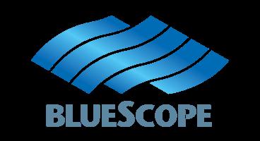 Client logo for BlueScope Steel - internal branding, content creation, event.